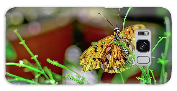 Nature - Butterfly And Plants Galaxy Case