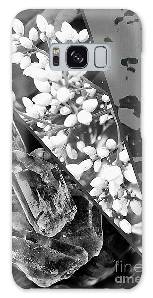 Nature Collage In Black And White Galaxy Case