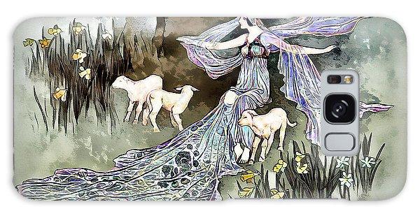 Galaxy Case featuring the digital art Nature Goddess by Pennie McCracken