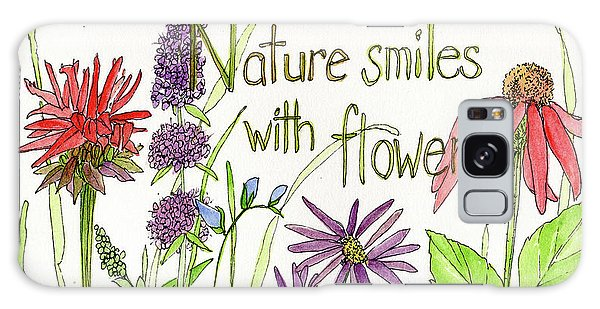Nature Smile With Flowers Galaxy Case