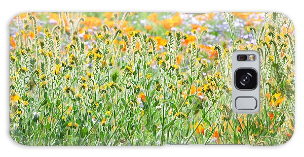 Galaxy Case featuring the photograph Nature's Artwork - California Wildflowers by Ram Vasudev