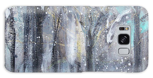 Galaxy Case featuring the painting Nature's Cathedral by Robin Maria Pedrero