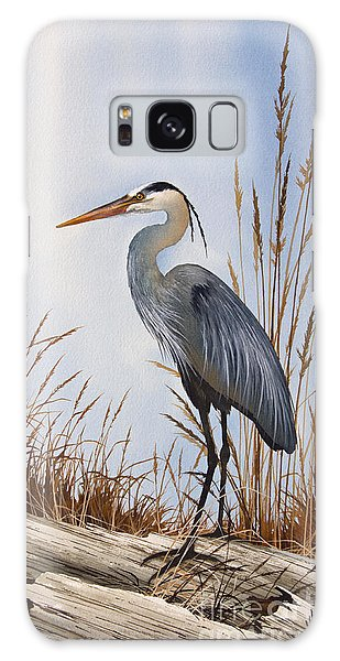 Herons Galaxy Case - Nature's Gentle Beauty by James Williamson