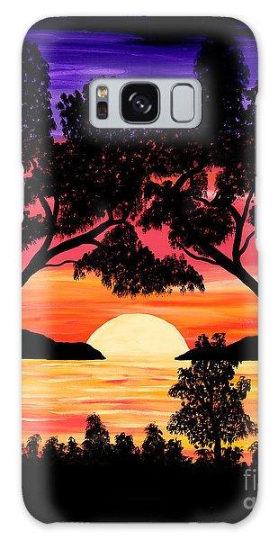 Nature's Gift - Ocean Sunset Galaxy Case