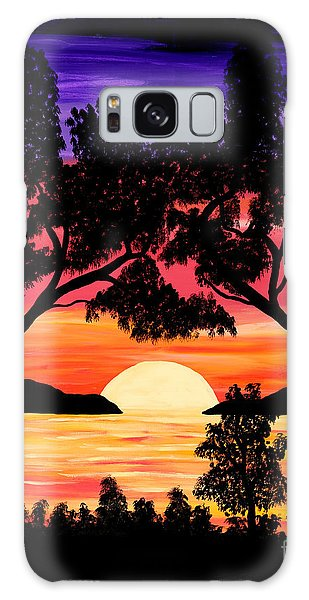Nature's Gift - Ocean Sunset Galaxy Case