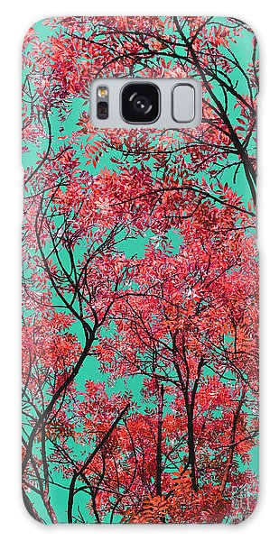 Natures Magic - Fire Red Galaxy Case by Rebecca Harman