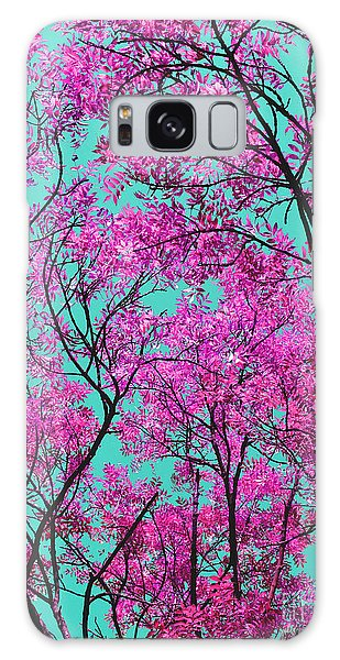 Natures Magic - Pink And Blue Galaxy Case by Rebecca Harman