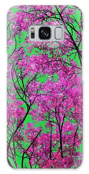 Natures Magic - Pink And Green Galaxy Case by Rebecca Harman