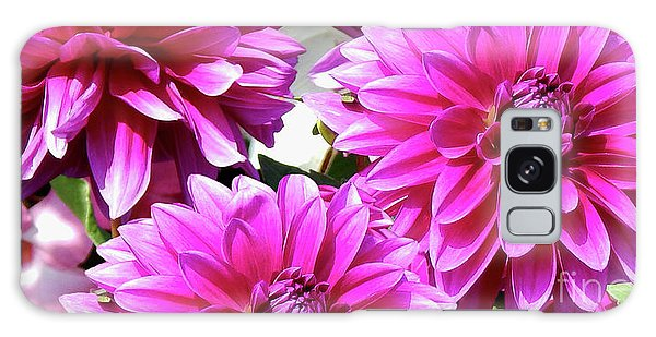 Natures Perfume Dahlias Red Tones Galaxy Case
