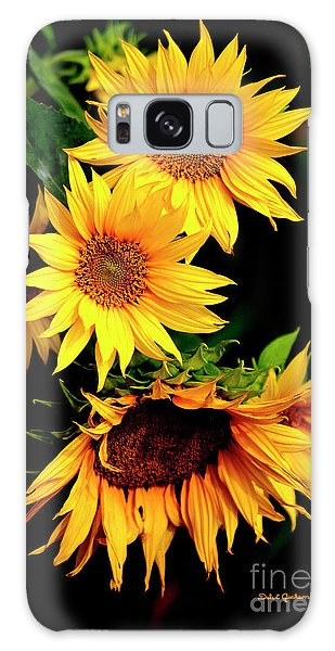 Natures Sunflower Bouquet Galaxy Case