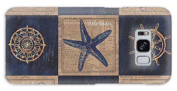 Galaxy Case - Nautical Burlap by Debbie DeWitt