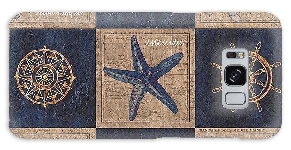 Claws Galaxy Case - Nautical Burlap by Debbie DeWitt