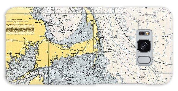 Vintage Cape Cod Nautical Chart 1945h Galaxy Case