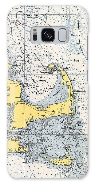 Vintage Cape Cod Nautical Chart 1945v Galaxy Case