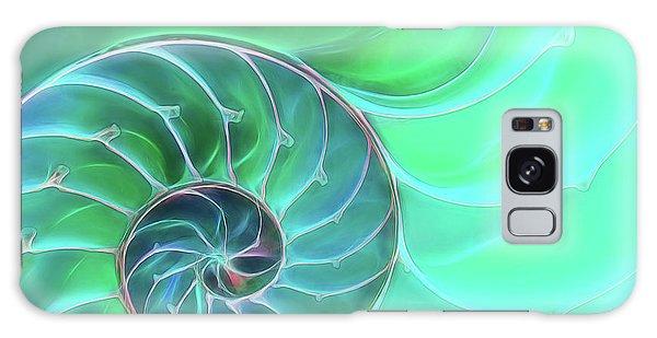 Nautilus Aqua Spiral Galaxy Case by Gill Billington