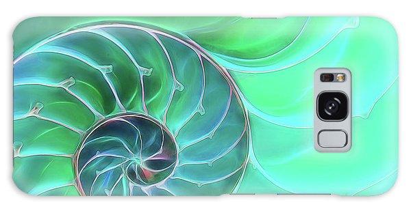 Nautilus Aqua Spiral Galaxy Case