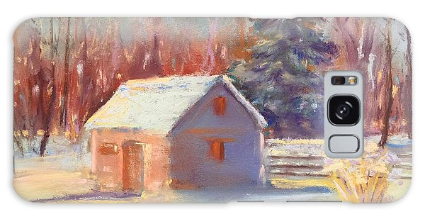 Nauvoo Winter Scene Galaxy Case by Rebecca Matthews