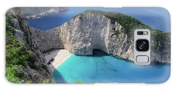 Navagio Beach Galaxy Case