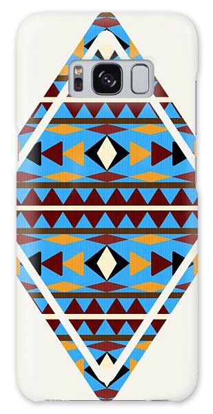 Navajo Blue Pattern Art Galaxy Case