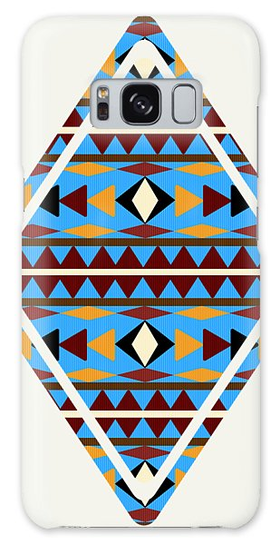 Navajo Blue Pattern Art Galaxy Case