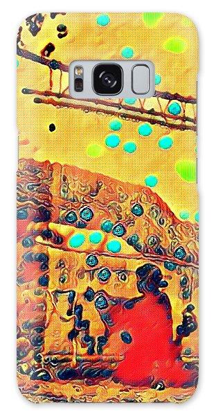 Navajo Woman Weaving 1 Galaxy Case
