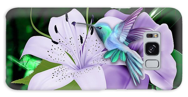 Galaxy Case featuring the mixed media Navigation Humming Bird by Marvin Blaine