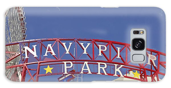 Navy Pier Galaxy Case by Mary Machare