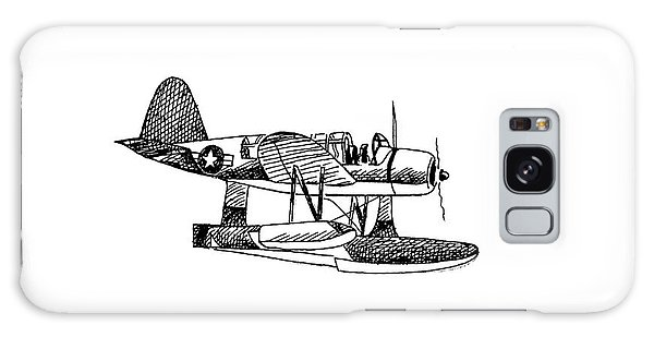 Navy Scout Observation Plane Pen And Ink No  Pi201 Galaxy Case by Kip DeVore