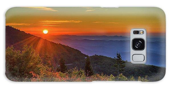 Nc Mountain Sunrise Blue Ridge Mountains Galaxy Case
