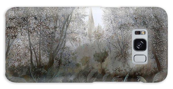 Mist Galaxy Case - Nebbia Nel Bosco by Guido Borelli