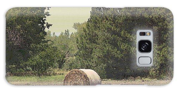 Nebraska Farm Life - Hay Bail Galaxy Case