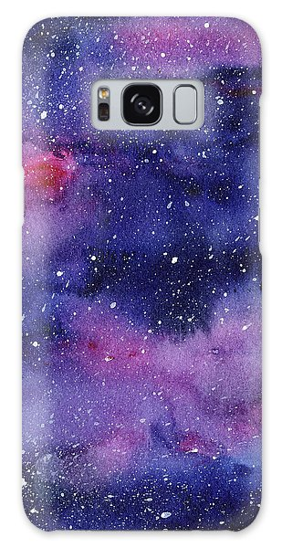 Galaxy Galaxy Case - Nebula Watercolor Galaxy by Olga Shvartsur