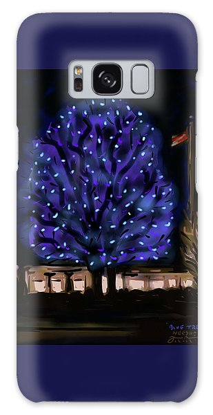 Needham's Blue Tree Galaxy Case