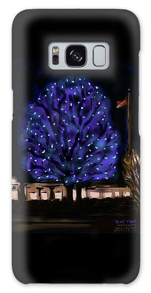 Needham's Blue Tree Galaxy Case