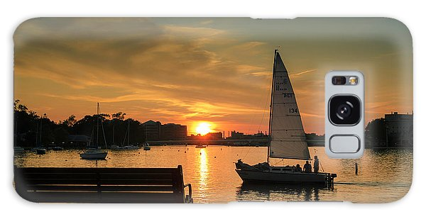 Galaxy Case featuring the photograph Neenah Harbor Sunset by Joel Witmeyer