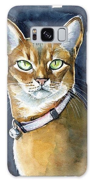 Nefertiti - Abyssinian Cat Portrait Galaxy Case