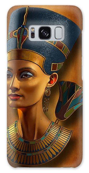 Egypt Galaxy Case - Nefertiti Egyptian Queen On Papyrus by Jovemini ART