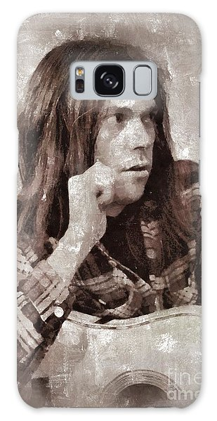 Neil Young By Mary Bassett Galaxy Case