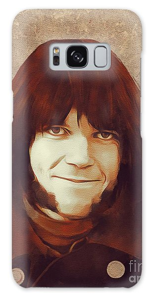 Neil Young Galaxy S8 Case - Neil Young, Music Legend by Mary Bassett