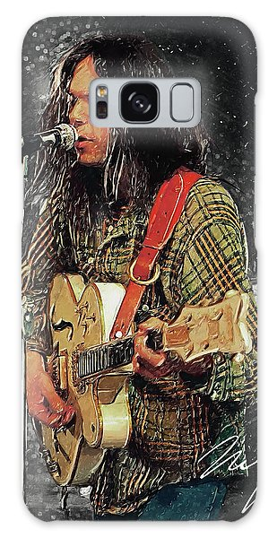 Neil Young Galaxy S8 Case - Neil Young by Taylan Apukovska