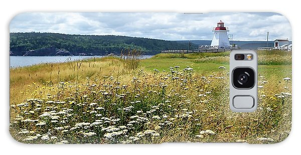 Cabot Trail Galaxy Case - Neil's Harbor Lighthouse by Debbie Hart