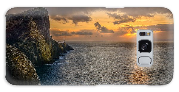 Neist Point Lighthouse Isle Of Skye Galaxy Case