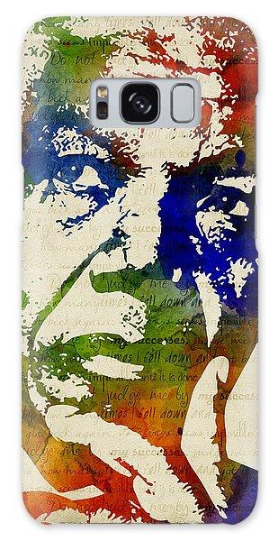 Nelson Mandela Watercolor Galaxy Case by Mihaela Pater