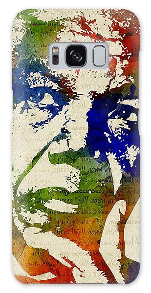 Nelson Mandela Watercolor Galaxy Case by Mihaela Pater