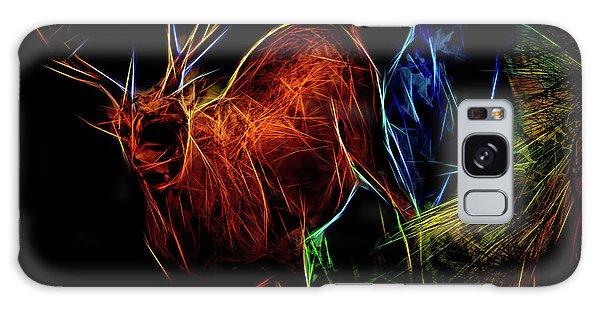 Galaxy Case featuring the digital art Neon Buck by Ray Shiu