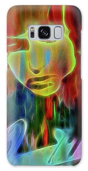Folk Singer Galaxy Case - Neon Color Bob Dylan by Dan Sproul