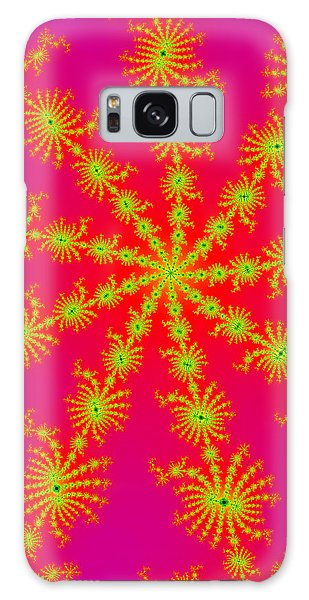 Neon Fractals Galaxy Case