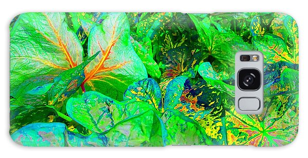 Galaxy Case featuring the photograph Neon Garden Fantasy 1 by Marianne Dow