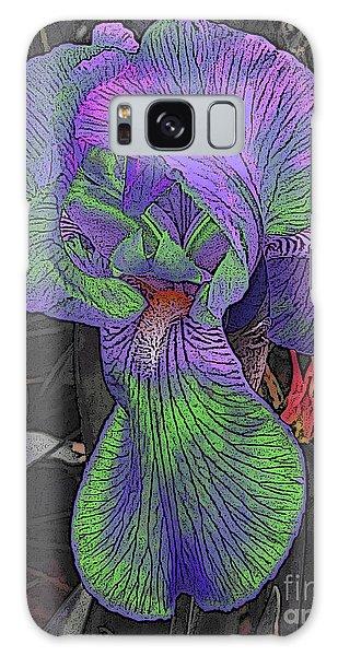 Neon Iris Dark Background Galaxy Case