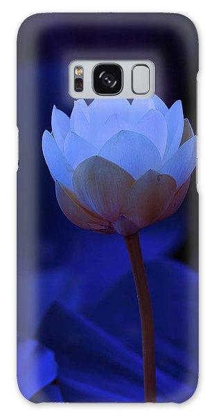 Neon Lotus Galaxy Case by Carolyn Dalessandro